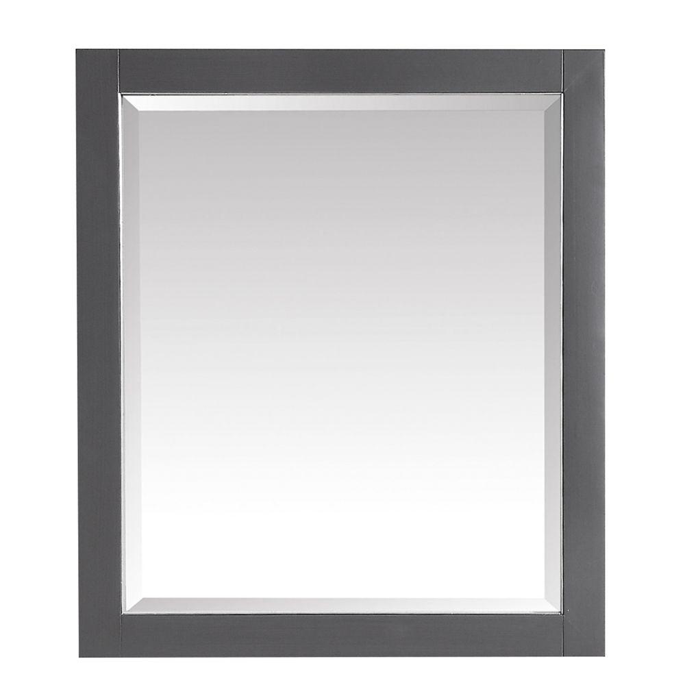 Avanity 28 inch Mirror for Allie / Austen in Twilight Gray w/ Silver Trim