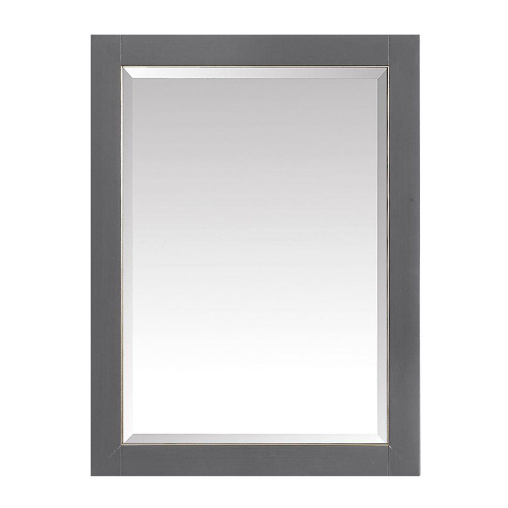 Avanity 22 inch Mirror Cabinet for Allie / Austen in Twilight Gray w/ Gold Trim