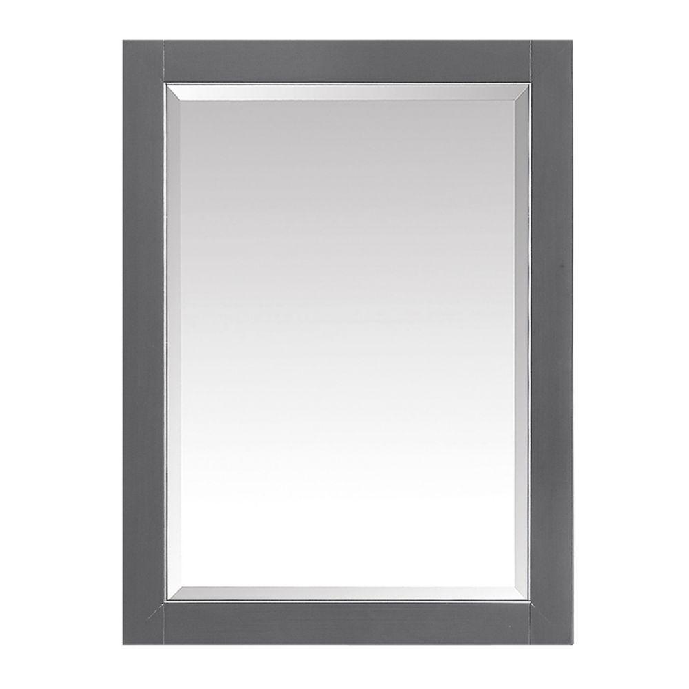 Avanity 22 inch Mirror Cabinet for Allie / Austen in Twilight Gray w/ Silver Trim