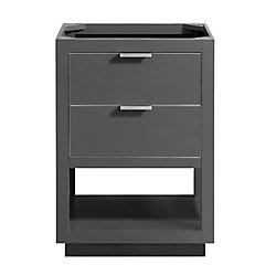 Avanity Allie 24 inch Vanity Only in Twilight Gray w/ Silver Trim