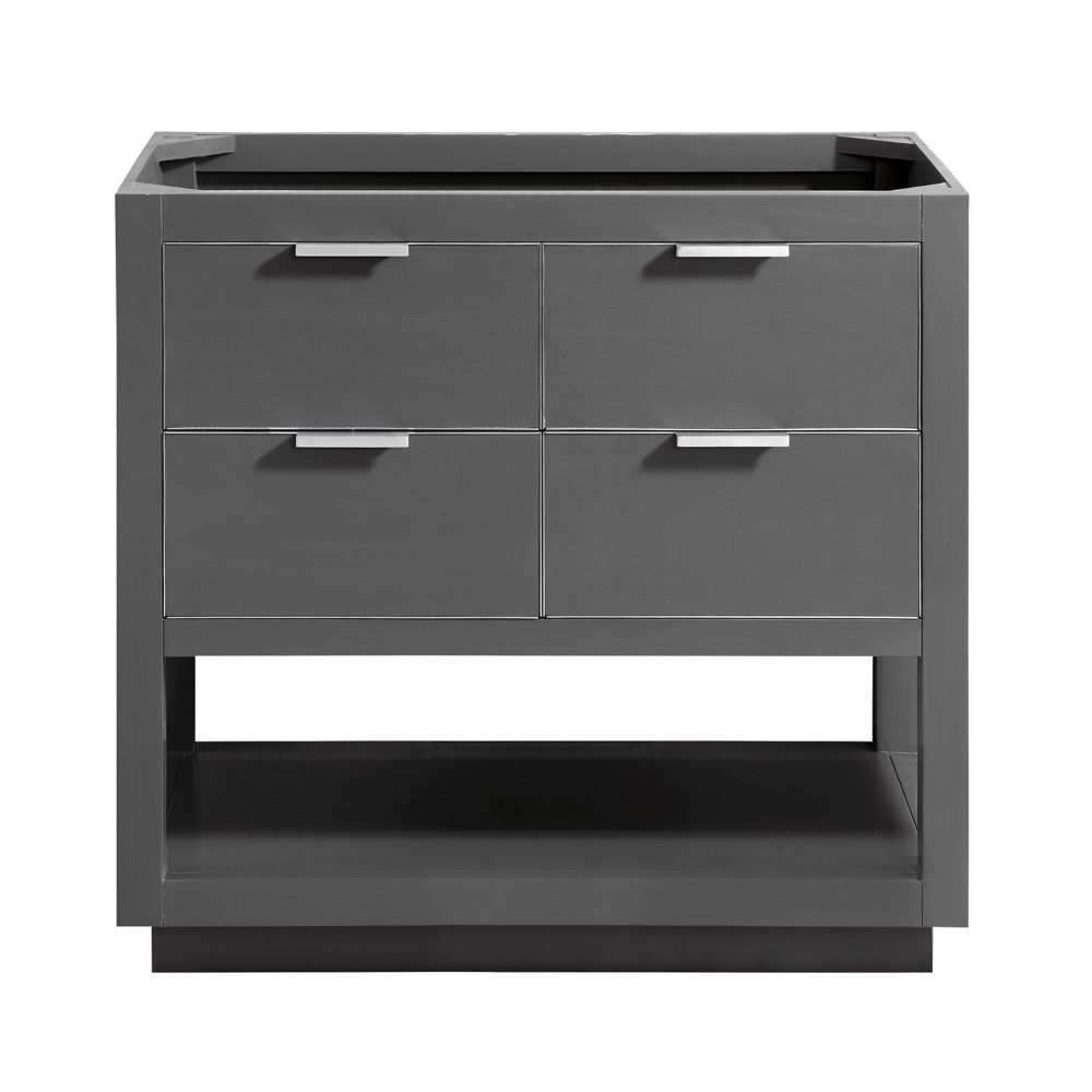 Avanity Allie 36 inch Vanity Only in Twilight Gray w/ Silver Trim