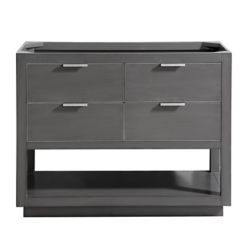 Avanity Allie 42 inch Vanity Only in Twilight Gray w/ Silver Trim