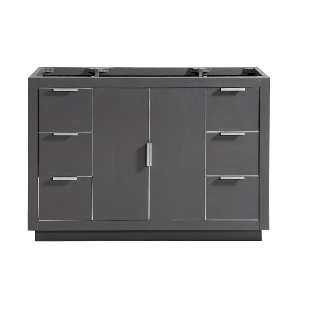 Avanity Austen 48 inch Vanity Only in Twilight Gray w/ Silver Trim