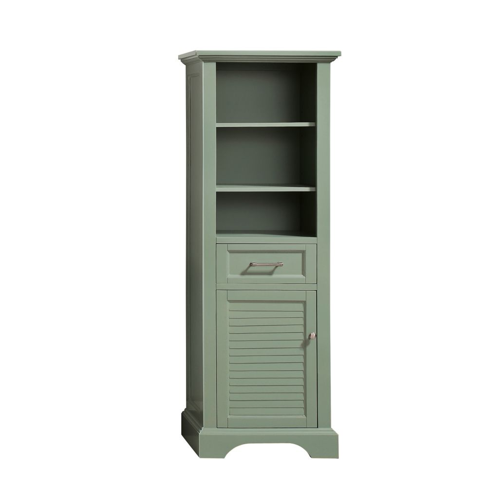 Avanity Colton 22 inch Linen Tower in Basil Green
