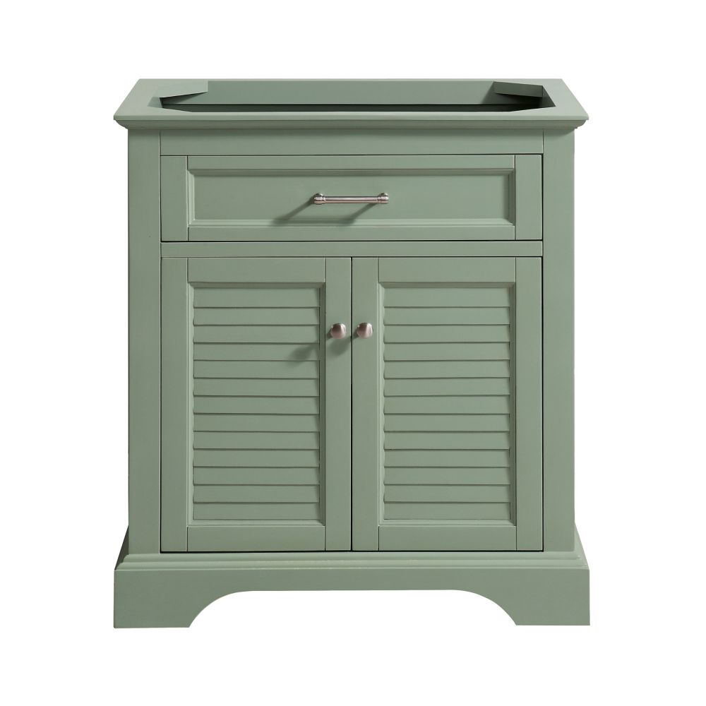 Colton 30 inch Vanity Only in Basil Green