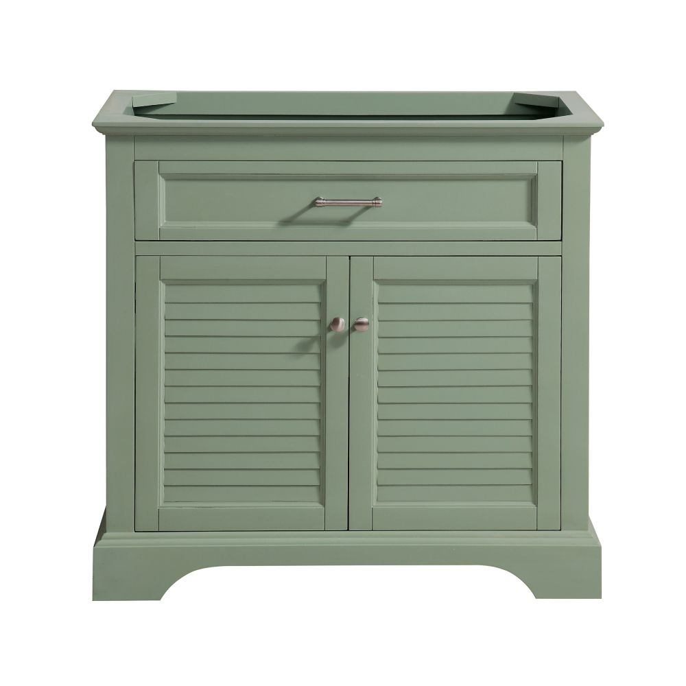 Colton 36 inch Vanity Only in Basil Green