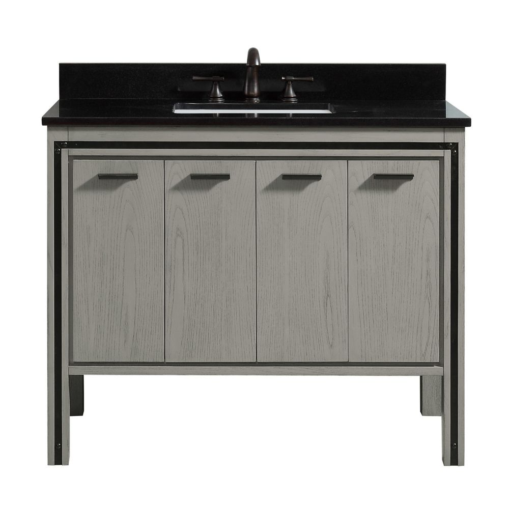 Avanity Dexter 43 inch Vanity Combo in Rustic Gray with Black Granite Top