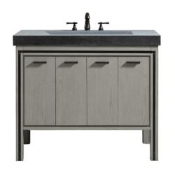 Avanity Meuble-lavabo Dexter, fini gris rustique, et comptoir intégré en granite gris de 43po