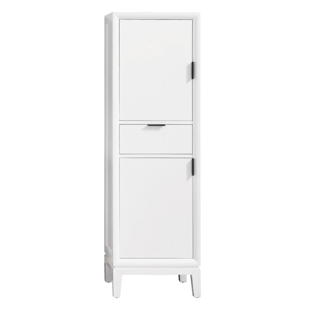 Avanity Emma 20 Inch Linen Tower In White The Home Depot