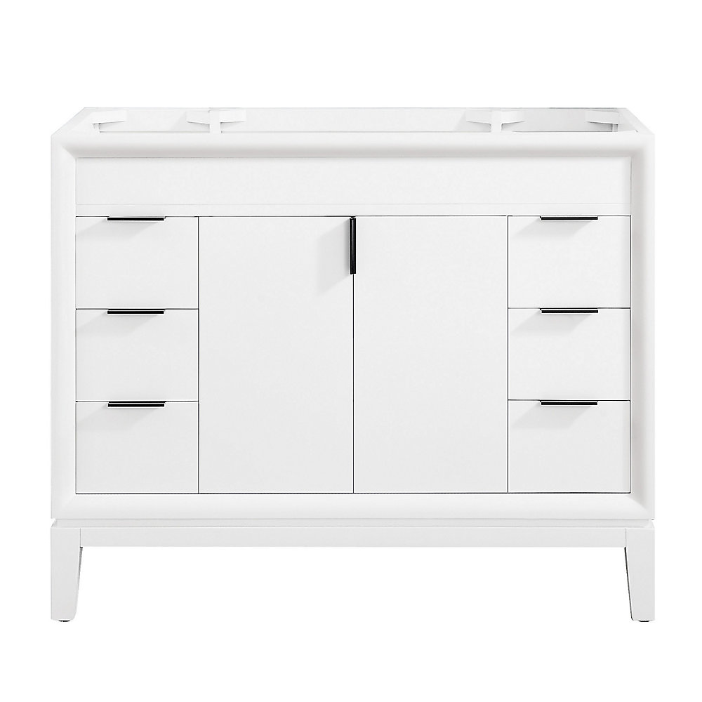 Avanity Emma 42 inch Vanity Only in White | The Home Depot ...