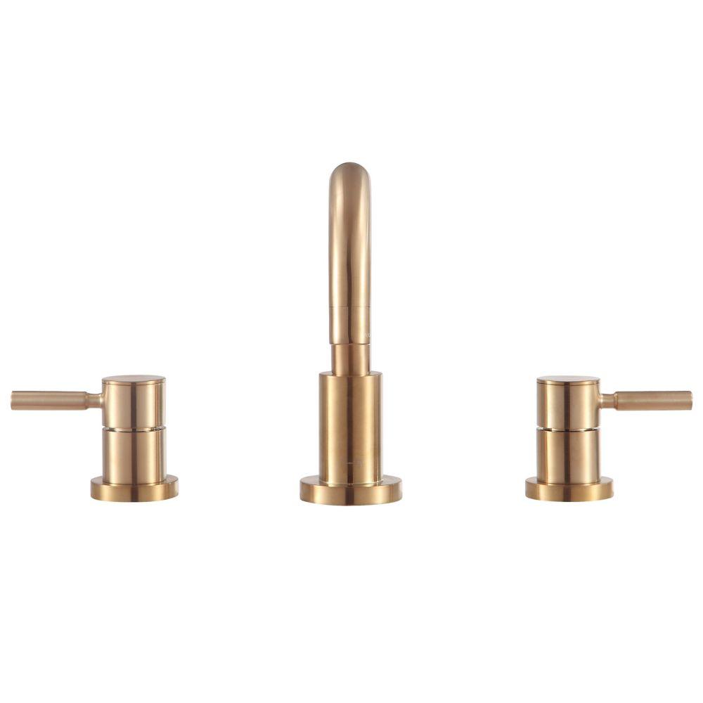 Avanity Positano 8 inch Widespread 2-Handle Bath Faucet in Matte Gold finish