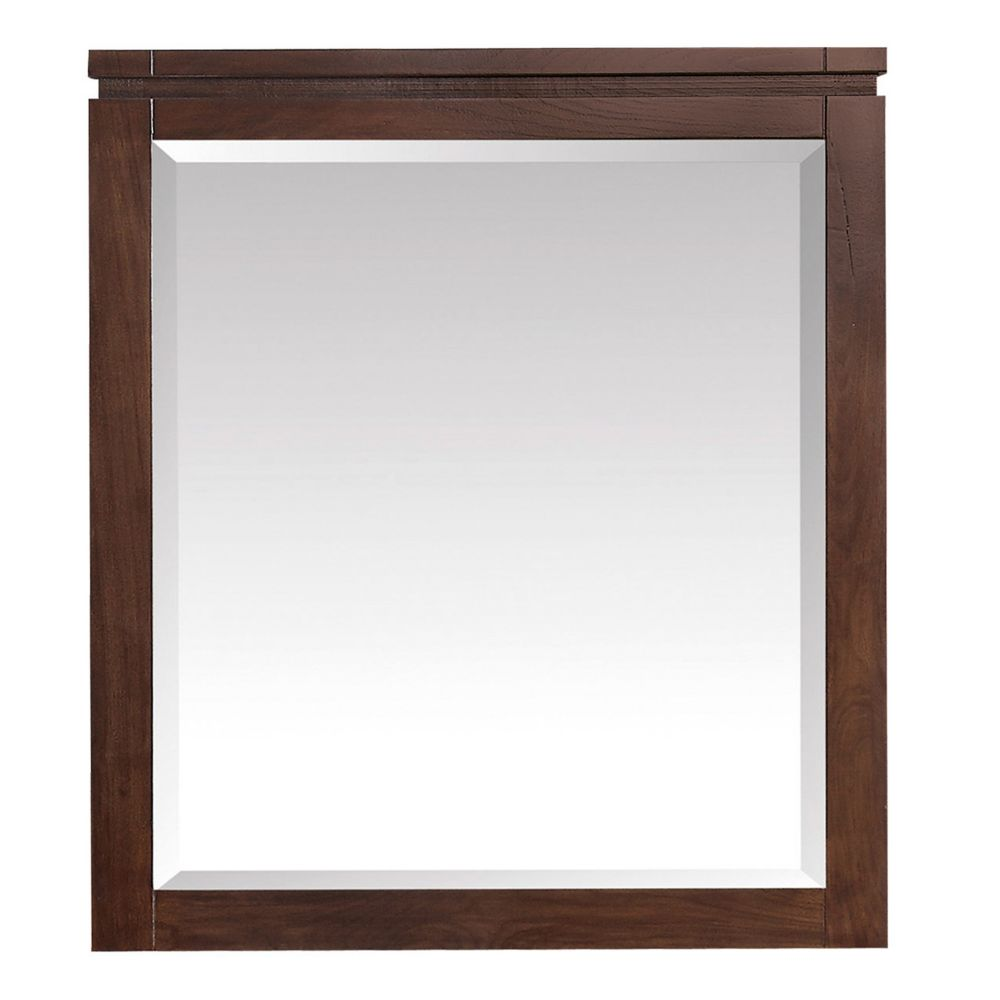 Avanity Giselle 29 inch Mirror in Natural Walnut