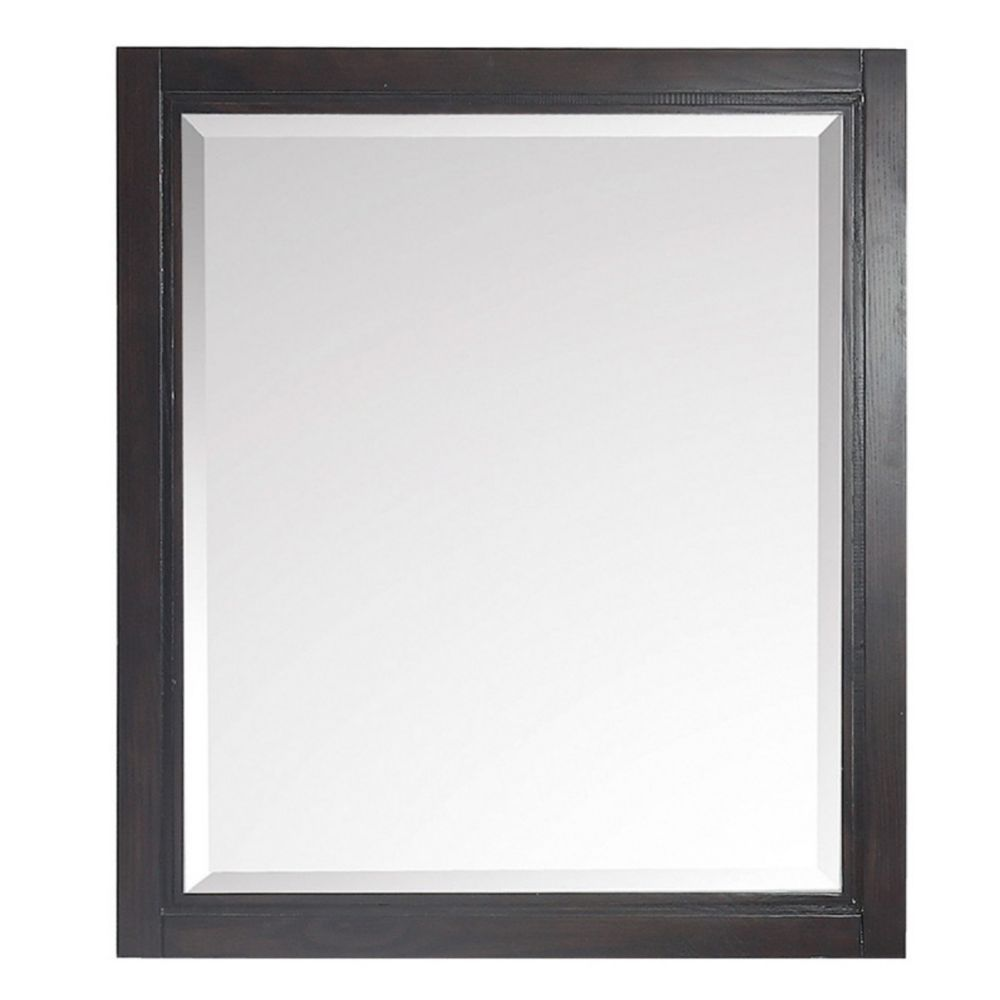 Avanity Hepburn 28 inch Mirror in Dark Chocolate