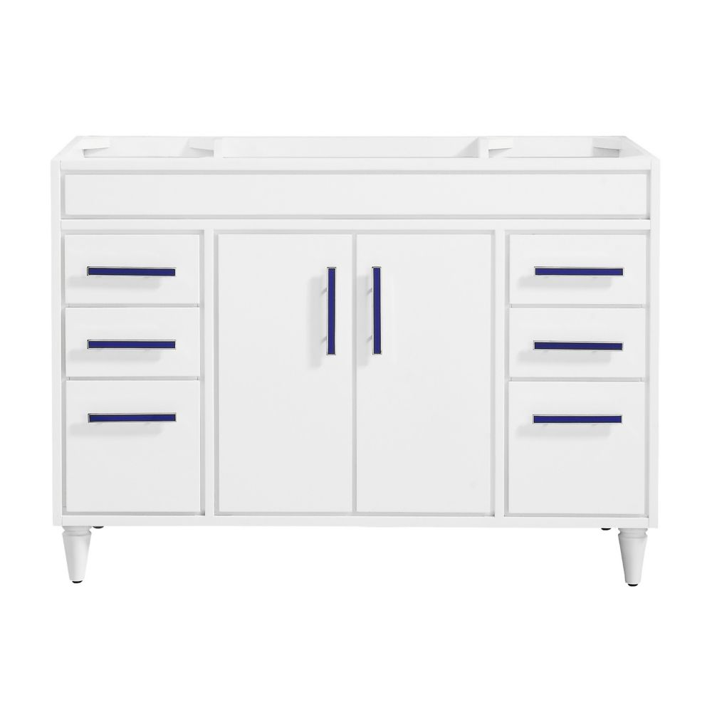 Layla 48 inch Vanity Only in White