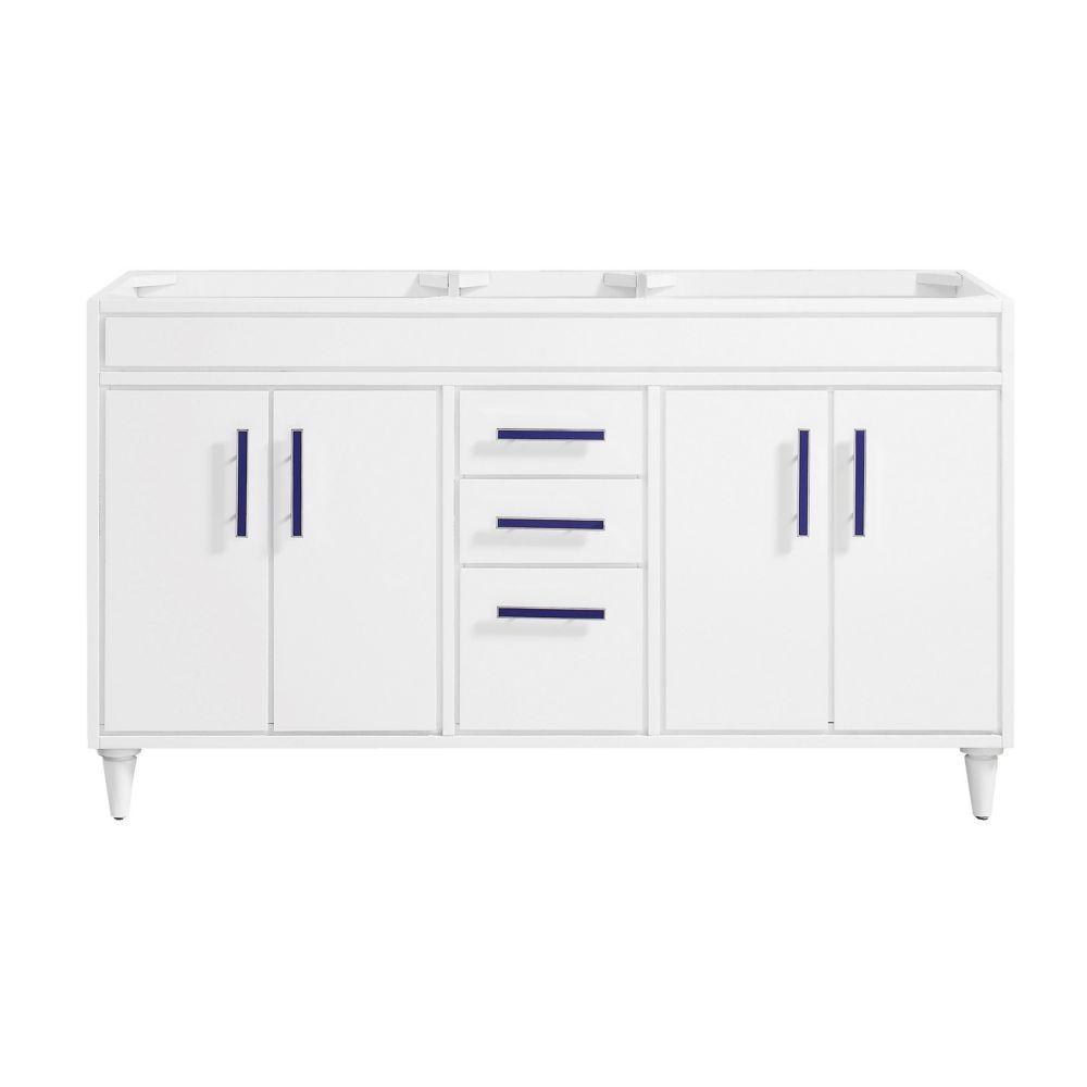 Layla 60 inch Vanity Only in White