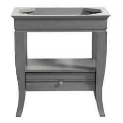 Avanity Milano 30 inch Vanity Only in Light Charcoal finish
