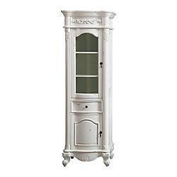 Avanity Provence 24 inch Linen Tower in Antique White finish