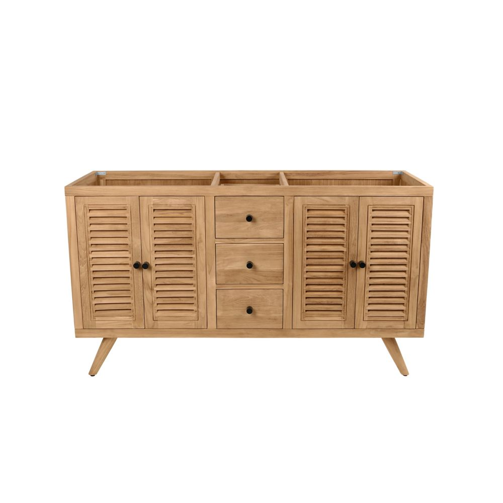 Avanity Harper 60 inch Vanity Only in Natural Teak
