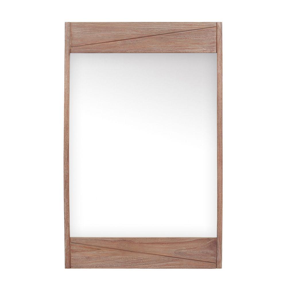Avanity Teak 24 inch Mirror in Rustic Teak