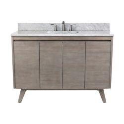 Avanity Coventry 49 inch Vanity in Gray Teak with Carrara White Top