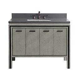 Avanity Dexter 43 inch Vanity Combo in Rustic Gray with Gray Quartz Top