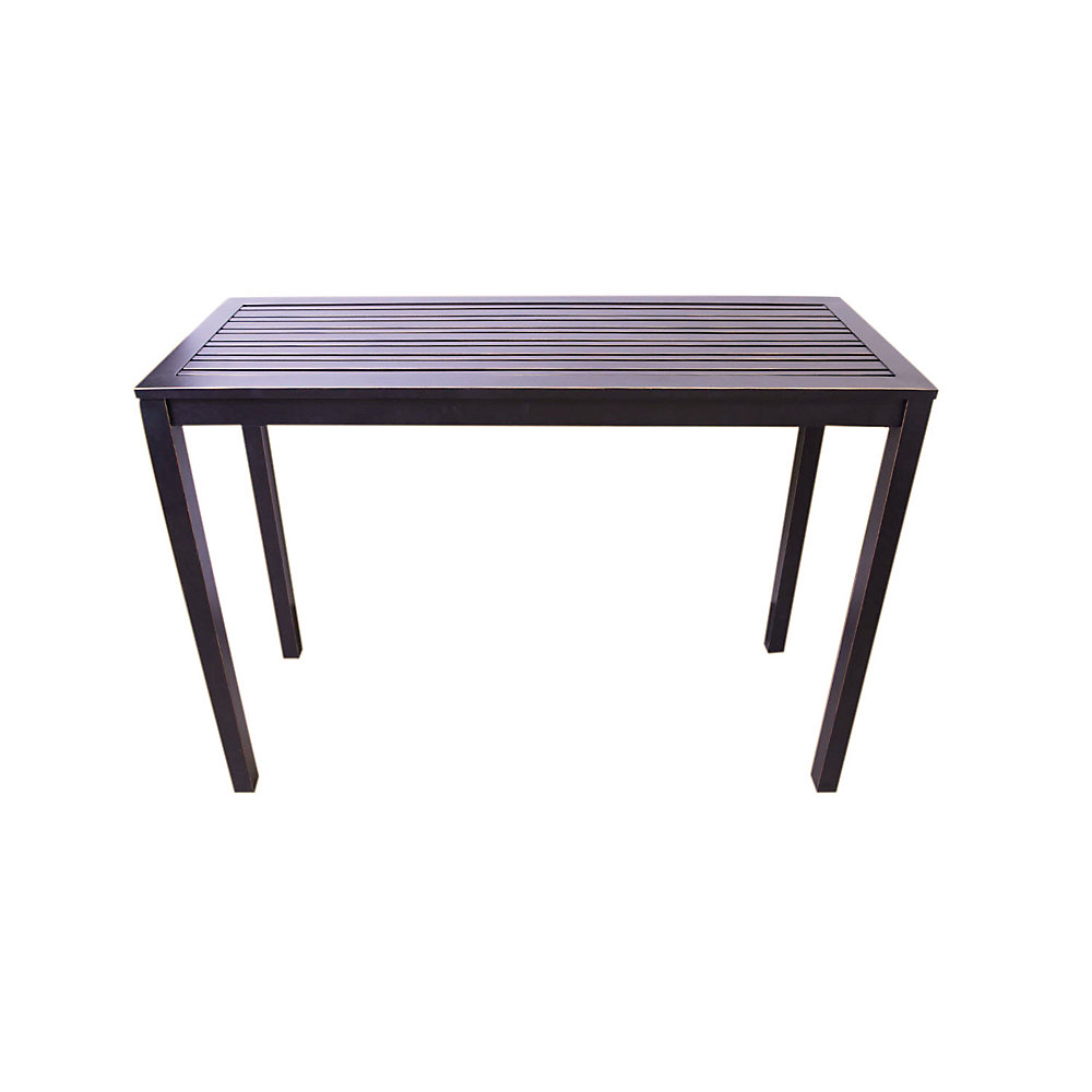 Table de bar haute de jardin Antibes, aluminium