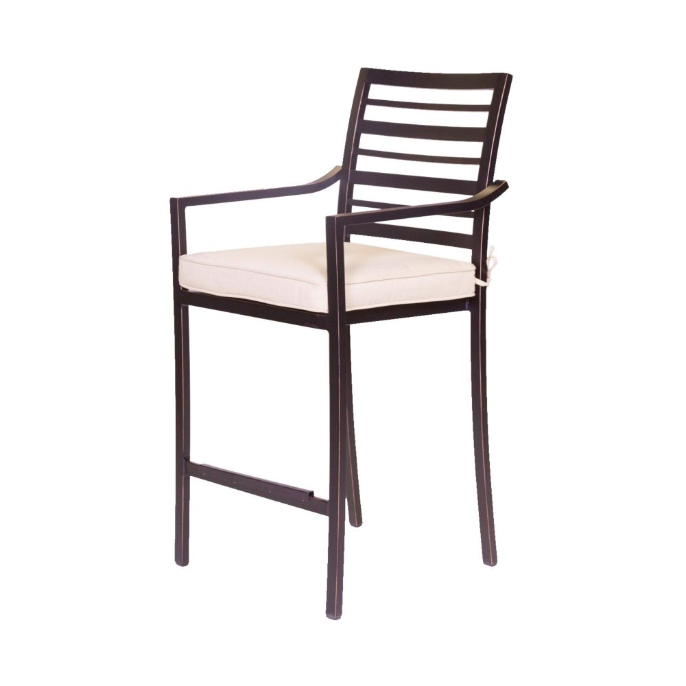 ONSIGHT Antibes Alum Counter Height  Stool with seat cushion
