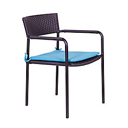 ONSIGHT Sorrento Wicker Patio Dining Chair