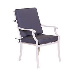 ONSIGHT Chianti Patio Dining Chair with Seat and Back Cushion