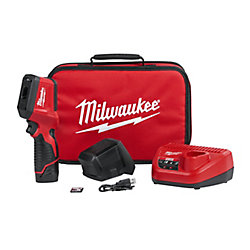 Milwaukee Tool M12 12V Lithium-Ion Cordless Thermal Imager Kit W/(1) 1.5Ah Battery, Charger, Tool Bag