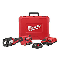 Milwaukee Tool M18 18-Volt Lithium-Ion Cordless Force Logic 600 MCM Crimper Kit