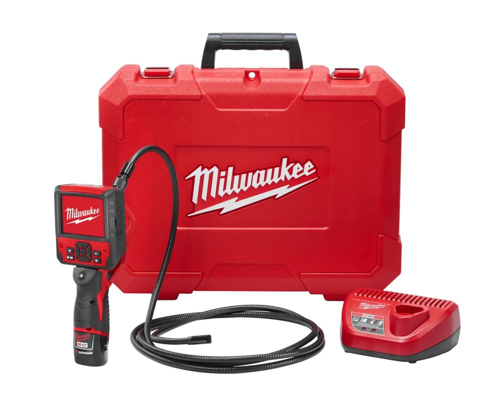 Milwaukee Tool M12 12-Volt Lithium-Ion Cordless M-SPECTOR FLEX 9 ft. Inspection Camera Cable Kit