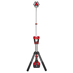 Milwaukee Tool M18 18V Li-Ion Cordless Rocket LED Portable Stand Light/Charger Kit w/ High Demand 9.0Ah Battery