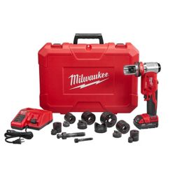 Milwaukee Tool Ens. outil de poinçonnage M18 Force Logic, sans fil, au Li-ion, 18V,  1/2 - 2 po