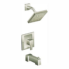 Ensemble de garniture de robinet de douche et de mitigeur Posi-Temp 90 degrés à poignée unique en nickel brossé (robinet vendu séparément)