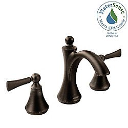 Wynford Two-Handle High Arc Bathroom Faucet in Oil Rubbed Bronze (Valve Sold Separately)