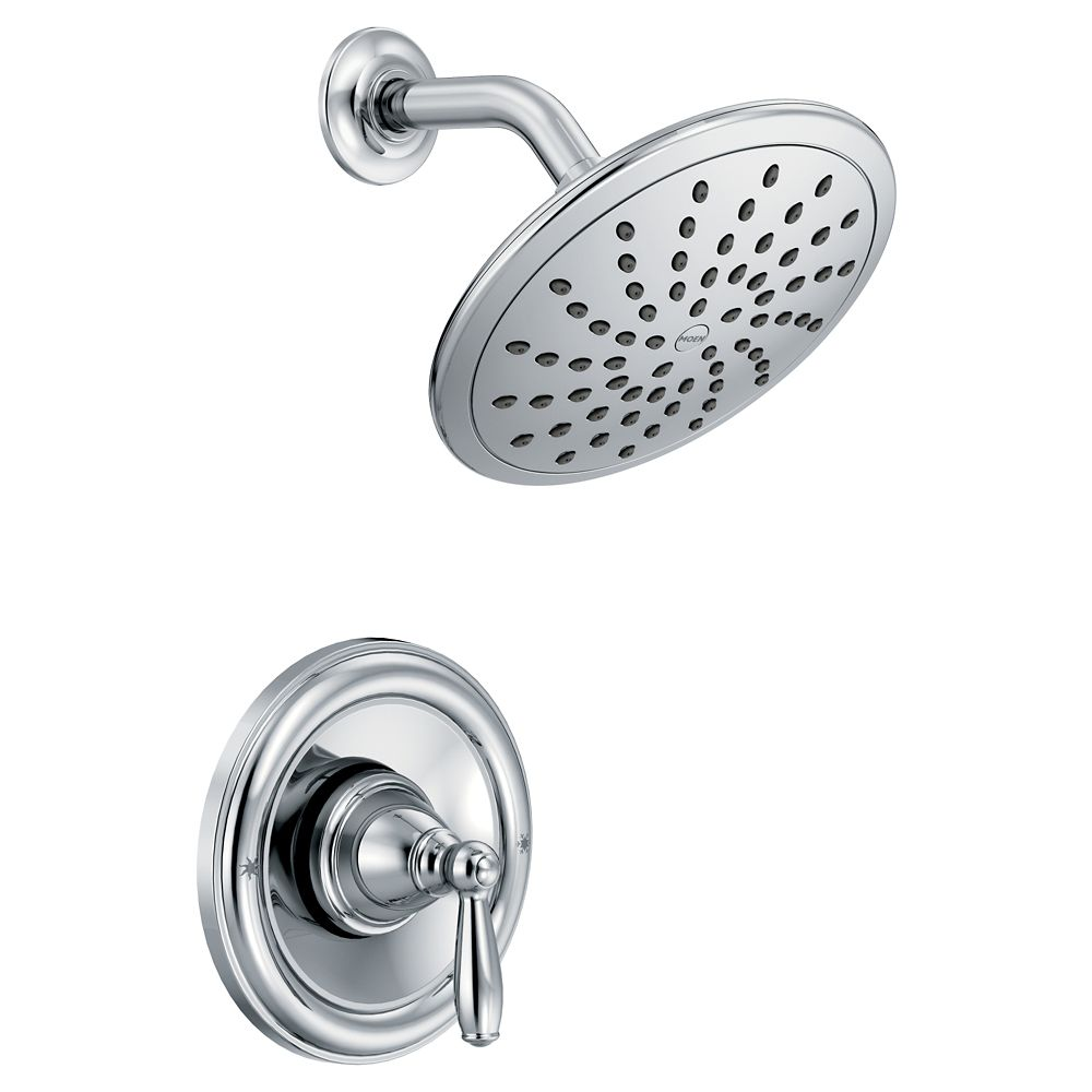 Moen Brantford Posi-Temp Rain Shower 1-Handle Shower Only Faucet Trim Kit In Chrome (Valve Not Included)