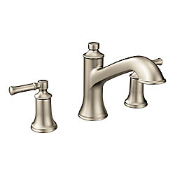 MOEN Dartmoor 8-inch Widespread 2-Handle Roman Tub Bathroom Faucet In Brushed Nickel (Valve Not Included)