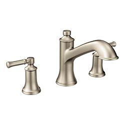 MOEN Dartmoor 8-inch Widespread 2-Handle Roman Tub Bathroom Faucet In Brushed Nickel (Valve Not Included)