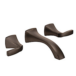 Voss Wall Mount 2-Handle Low-Arc Lavatory Faucet Trim Kit In Oil Rubbed Bronze (Valve Not Included)