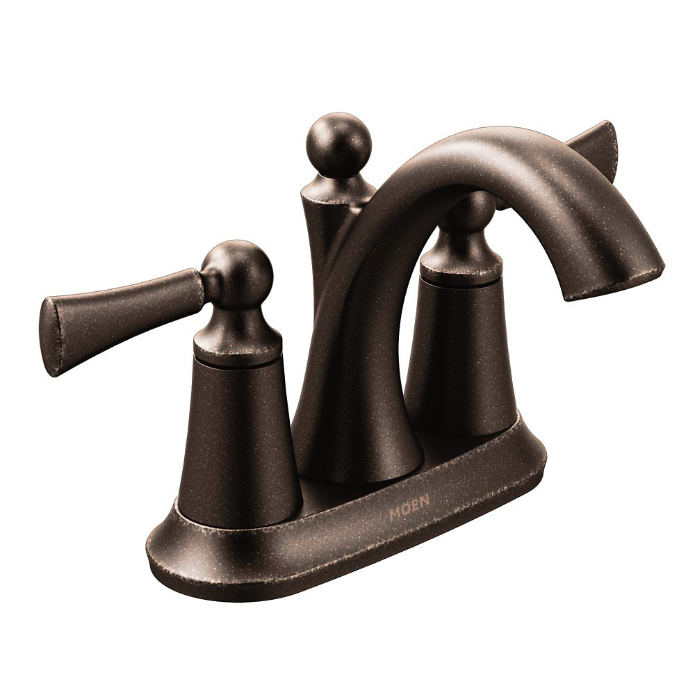 Wynford Oil Rubbed Bronze Two-Handle High Arc Bathroom Faucet