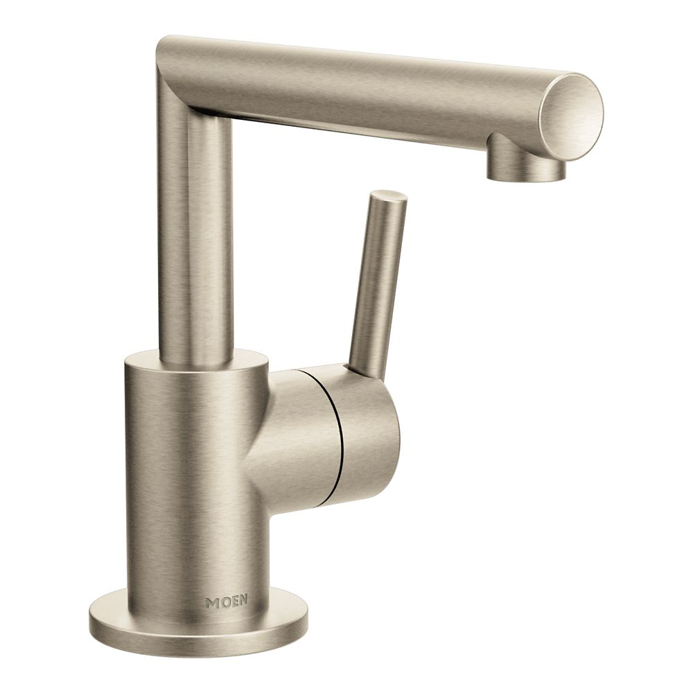 Moen Arris Single Hole 1-Handle Bathroom Faucet In Brushed Nickel