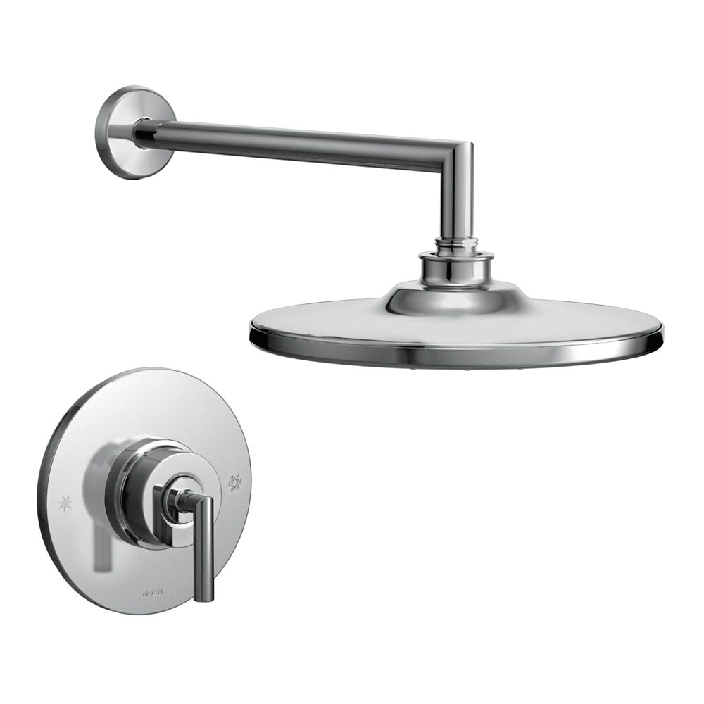 Moen Rothbury Posi-Temp 1-Spray Shower Faucet in Chrome (Valve Sold Separately)