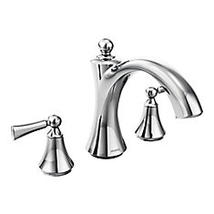 Wynford 2-Handle Roman Tub Faucet Trim Kit With Lever Handles In Chrome (Valve Sold Separately)