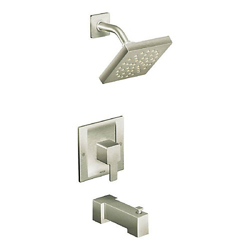 90-Degree Single-Handle Tub And Shower Faucet Trim Kit In Brushed Nickel (Valve Sold Separately)