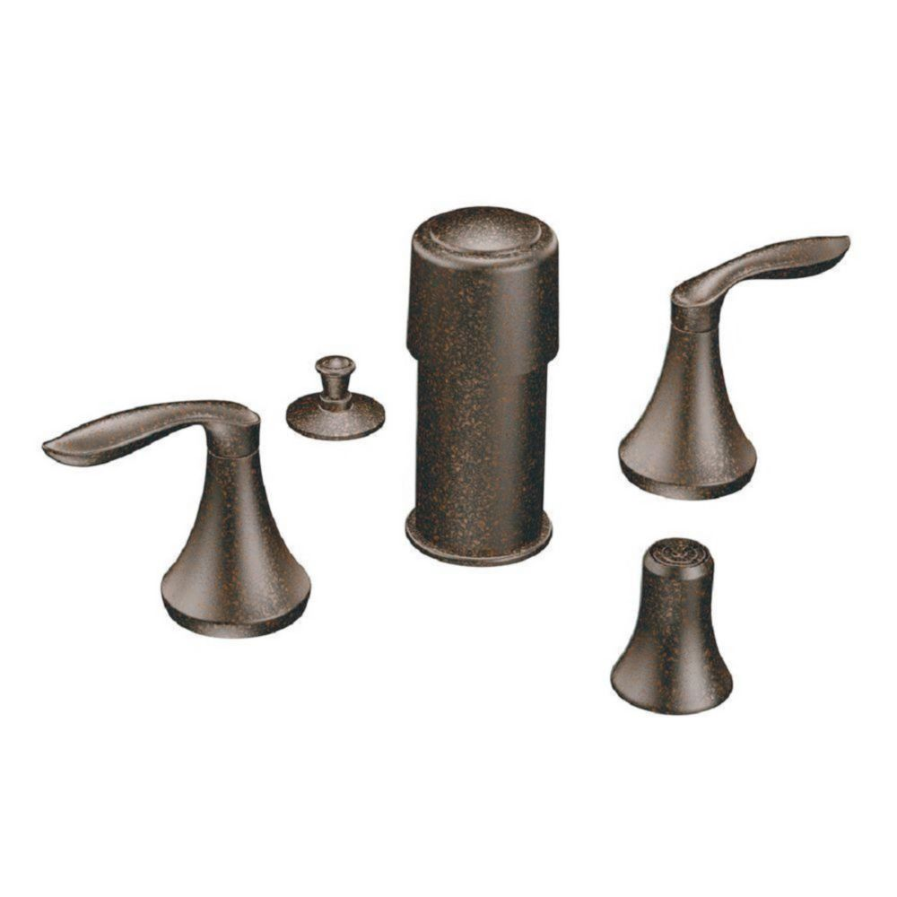 Moen Brantford Two Handle Bidet Trim In Oil Rubbed Bronze (Valve Sold Separately)