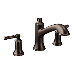 MOEN Dartmoor 8 -inch Widespread Roman Tub Bathroom Faucet In Oil Rubbed Bronze (Valve Sold Separately)