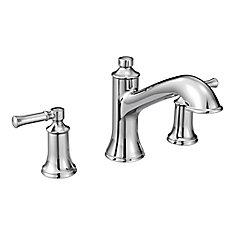 Robinet de baignoire romain Dartmoor de 8 pouces à 2 poignées en chrome (robinet vendu séparément)