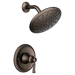 MOEN Dartmoor Posi-Temp Rain Shower Tub And Shower Faucet Trim Kit - Oil Rubbed Bronze (Valve Sold Separately)