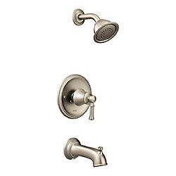 MOEN Baignoire/douche Dartmoor Posi-Temp en nickel brossé (valve vendue séparément)